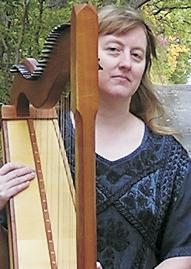 Jo Morrison and cletic harp